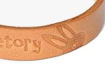 ワンポイントのブタ鼻うさぎの焼き印